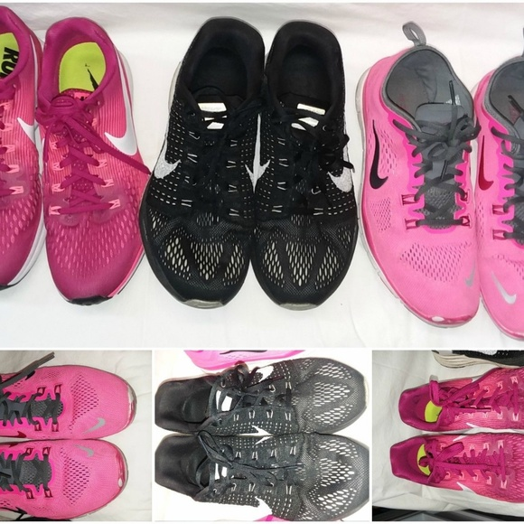 quality design 67d43 87681 3 Pairs NIKE Running Shoes 9.5 Zoom Pink. M 5a9a84a184b5ce9d112d9cd7
